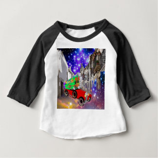 Beautiful car plenty of gifts under starry night baby T-Shirt