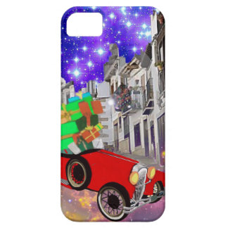 Beautiful car plenty of gifts under starry night iPhone 5 cases