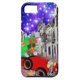 Beautiful car plenty of gifts under starry night iPhone 5 covers