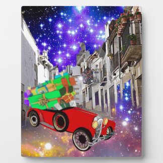 Beautiful car plenty of gifts under starry night plaque