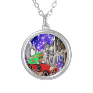 Beautiful car plenty of gifts under starry night silver plated necklace