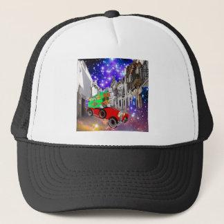 Beautiful car plenty of gifts under starry night trucker hat