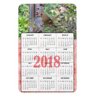 Beautiful Cardinal on Branch 2018 Calendar Magnet