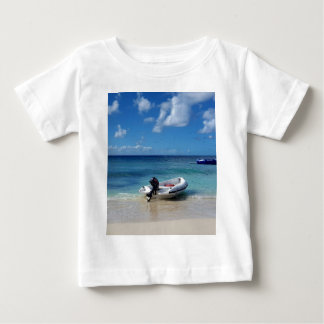 Beautiful Caribbean Beachscape Boat Photography Baby T-Shirt