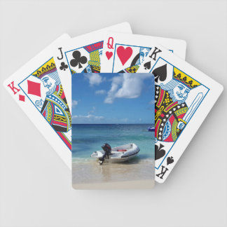 Beautiful Caribbean Beachscape Boat Photography Bicycle Playing Cards
