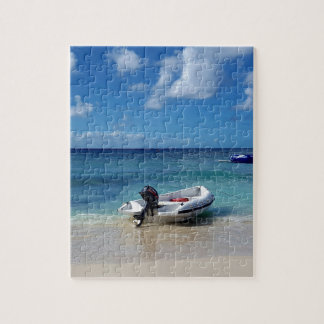 Beautiful Caribbean Beachscape Boat Photography Puzzle