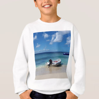 Beautiful Caribbean Beachscape Boat Photography Sweatshirt