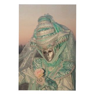 Beautiful Carnival Costume, Venice Wood Wall Art