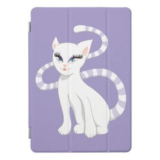 Beautiful Cartoon White Cat iPad Pro Cover
