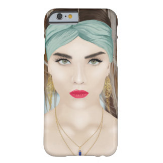 Beautiful case with a boho inspired portrait