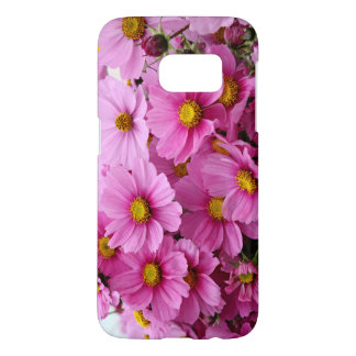 Beautiful case with pink, rosy flowers