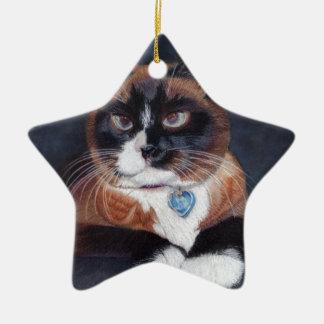 Beautiful Cat Ceramic Ornament