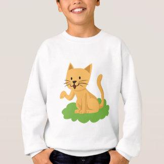 beautiful cat meowing and waving sweatshirt