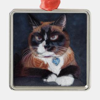 Beautiful Cat Metal Ornament