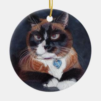 Beautiful Cat Round Ceramic Decoration