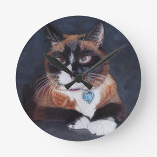 Beautiful Cat Round Clock