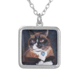 Beautiful Cat Silver Plated Necklace
