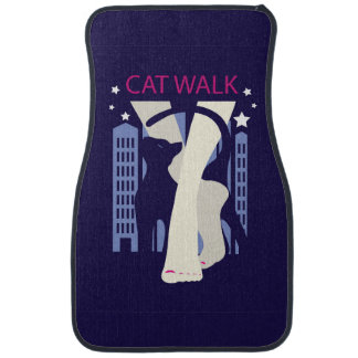 Beautiful cat walk. Art deco stylish illustration Floor Mat