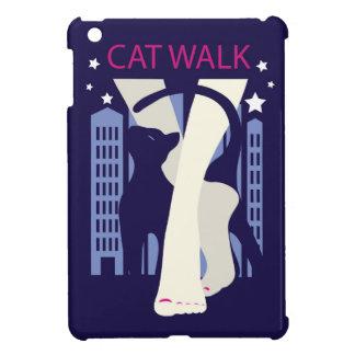 Beautiful cat walk. Art deco stylish illustration iPad Mini Covers