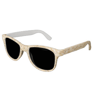 Beautiful champagne gold glitter sparkles sunglasses