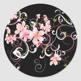 Beautiful Cherry Blossoms Round Sticker