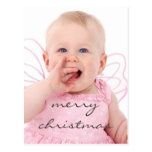 Beautiful Chic Baby Photo Merry Christmas Post Cards