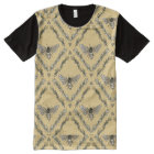 Beautiful Chic Hand-Drawn Bee Pattern All-Over Print T-Shirt