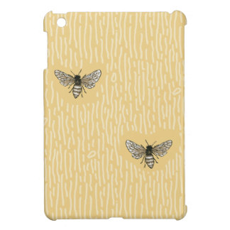 Beautiful Chic Hand-Drawn Bee Pattern Cover For The iPad Mini