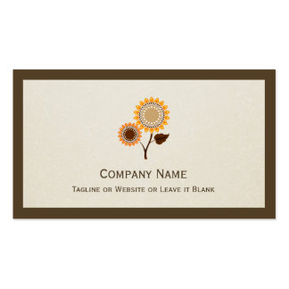 Beautiful Chic Sunflower - Simple Elegant Pack Of Standard Business Cards