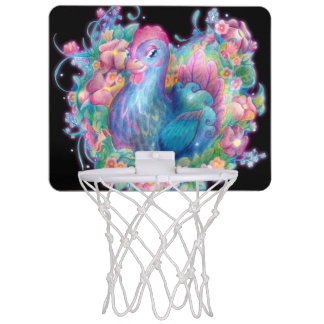 Beautiful Chicken and Flowers Mini Basketball Hoop
