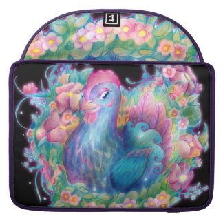 Beautiful Chicken and Flowers Sleeve For MacBooks