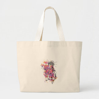 beautiful chinese girl large tote bag
