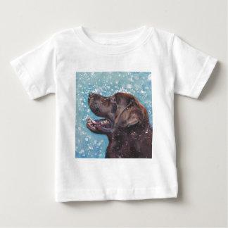 Beautiful Chocolate Lab Labrador Retriever Art Baby T-Shirt