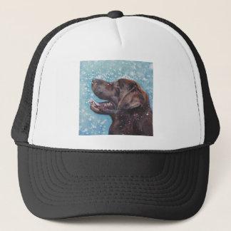 Beautiful Chocolate Lab Labrador Retriever Art Trucker Hat