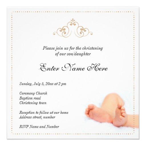 Beautiful christening/baptism invitation wit baby