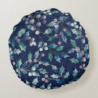 Beautiful Christmas Holly Berries THROW PILLOW