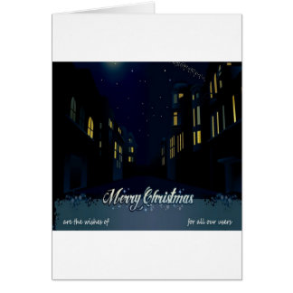 Beautiful christmas night greeting cards