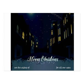 Beautiful christmas night post cards