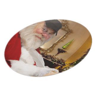 Beautiful Christmas Santa Claus Plates