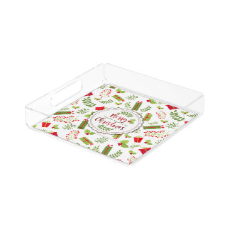 Beautiful Christmas Script Gifts Acrylic Tray