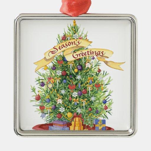 Beautiful Christmas Tree Banner Seasons Greetings Christmas Tree Ornaments