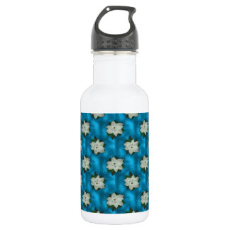 Beautiful Christmas White Poinsettia & Greenery 532 Ml Water Bottle