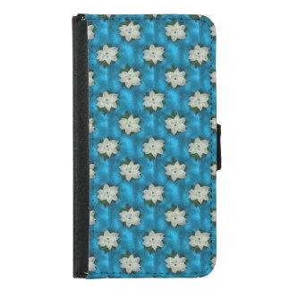 Beautiful Christmas White Poinsettia & Greenery Samsung Galaxy S5 Wallet Case