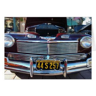Beautiful Chrome Grille of Classic Mercury Car Card