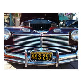 Beautiful Chrome Grille of Classic Mercury Car Postcard