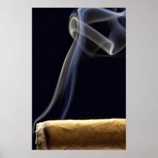 Beautiful Cigar with smoke Poster