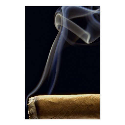 Beautiful Cigar with smoke Poster