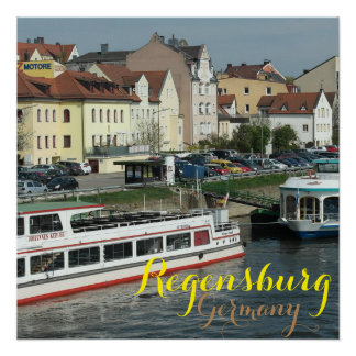 Beautiful City of Regensburg Germany Poster