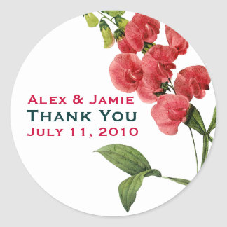 Beautiful & Classic Customizable Wedding Stickers