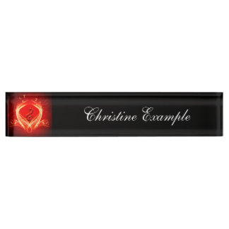 Beautiful clef and key notes nameplate